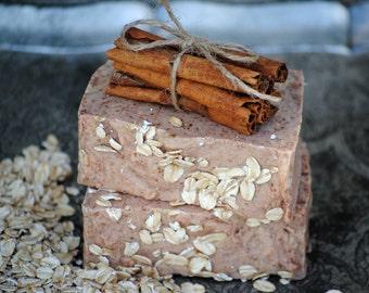 Soap, Oatmeal Soap, Exfoliating Soap, Luxury Soap, Boutique Soap, Cinnamon Soap, Soaps, Homemade Soap, Sympathy Gift