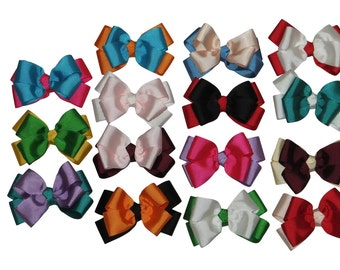 "15 Pc Wholesale lot 3"" Boutique Bow for Girl Hair Accessories with Alligator Clip"