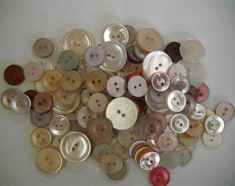 Lot of Buttons- vintage and new from old stock- lot r04