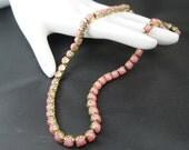 Vintage Choker - Pink Chiffon - Necklace