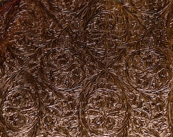 "8""x10"" Metallic BRONZE Western circle Cowhide Leather Hide 2-2.5 oz/.8-1 mm PeggySueAlso"