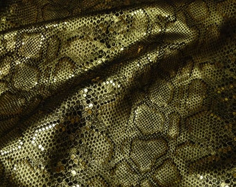 "Leather 8""x10"" Elegant Mystic GOLD Metallic on BLACK 3-3.5 oz / 1.2-1.4 mm - PeggySueAlso"
