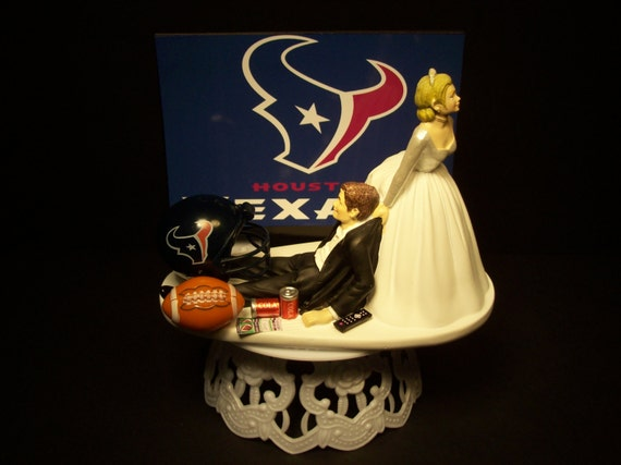 wedding cake toppers in houston tx football houston texans wedding cake topper and groom 26508