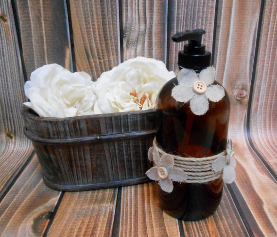 50 OFF Recycled Brown Glass Soap Dispenser By ThoseDays On Etsy