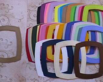 36 pc Rainbow Stitched Cardstock Frames Die Cuts Cardstock made from Sizzix Die Assorted Colors DIY projects Crafts Scrapbooking