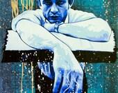 Cash - Preacher Man original painting v2