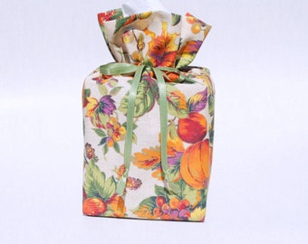 Halloween/Thanksgiving Tissue Box Cover, Fall/Pumpkin Kleenex Box Holder, Halloween Bathroom Accessories.