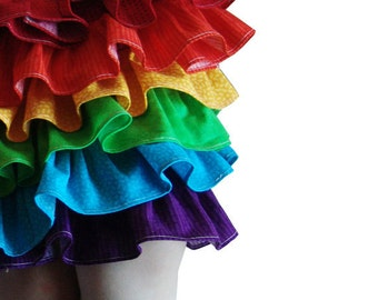 Rainbow Skirt childrens clothing, Rainbow Dash Costume, little girls skirt, Summer fashion, ruffles, kids, toddler, colorful, bright, baby