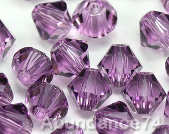 Swarovski Bicone Crystal Beads Xilion 5328 LILAC - Available in 3mm, 4mm and 5mm