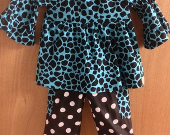 Peasant Top with Ruffle Pants, size 3t