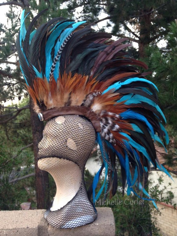 "Feather Mohawk Headdress  - ""Jackie"""
