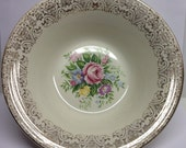 American Limoges Rosalie Serving  Bowl Triumph 22 K Gold