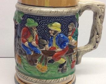 Vintage Beer Stein Mug Cup