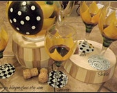 My Sisters Sunflowers (pitcher and set of 4 wine glasses)