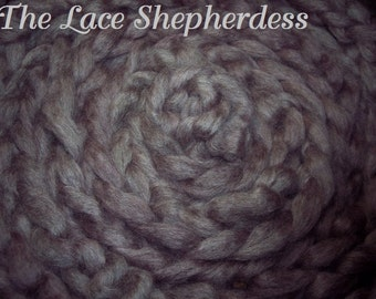 """Hand dyed Coopworth Wool Pin Draft Roving.  7.8 oz.""""Faded Love Letters"""""""
