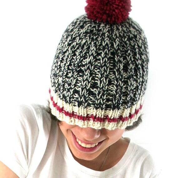Work Sock Hat Knitting Pattern : Sock monkey hat knitting kit with video easy beginner s