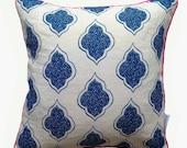 Navy Blue Lanterns cushion cover 45cm x 45cm