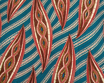 River Riders : 6 yd Superior Quality African Wax Fabric