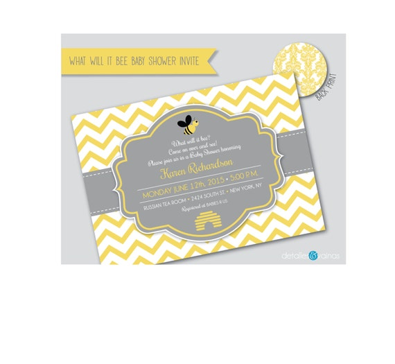 what will it bee baby shower invite by detallesyvainas on etsy