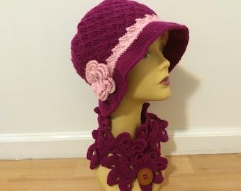 Woman Winter Cloche Brim Hat
