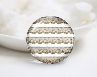 Handmade  Photo Glass Cabochons Cover-Lace (P1069)