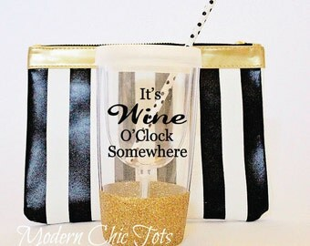 Glitter Wine Tumbler, Fully Customizable