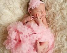 Newborn Pettiskirt Baby Tutu Premium Boutique Extra Full Pink Pettiskirt Tutu Skirt Pink Skirt