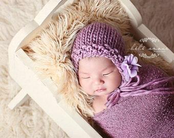 Baby Bonnet - 'BLOOM' - Essential bonnet line- newborn baby bonnet - photography prop - knitbysarah - stitches by sarah