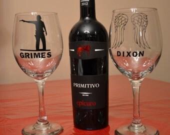 The Walking Dead Wine Glass Set