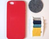 SALE - 50% OFF  DIY Kit - iPhone 5 cross stitch case - Red