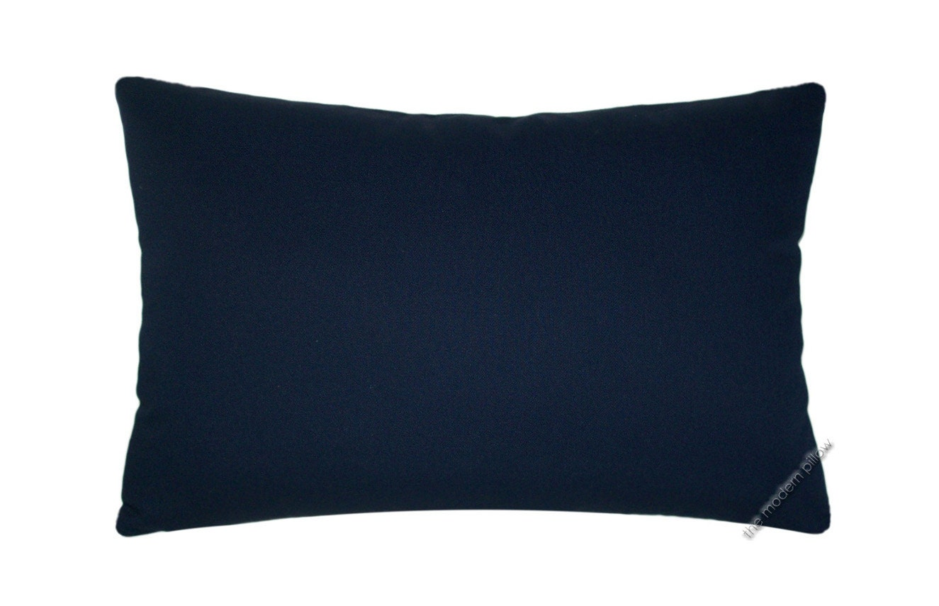 Solid Navy Blue Decorative Pillow : Navy Blue Solid Decorative Throw Pillow Cover / Pillow Case