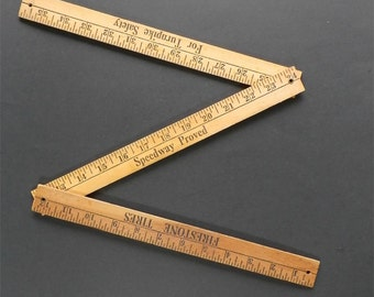 Vintage Firestone Tire Wooden Folding Ruler - Automobile Collectible - Vintage Cars - Father's Day Gift - Man Cave - Garage