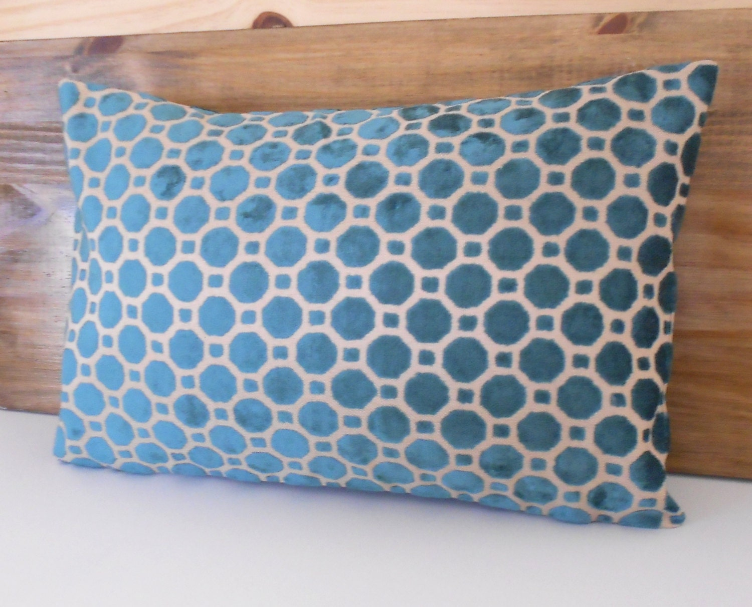 Decorative Pillows In Turquoise : Dark turquoise velvet decorative pillow cover
