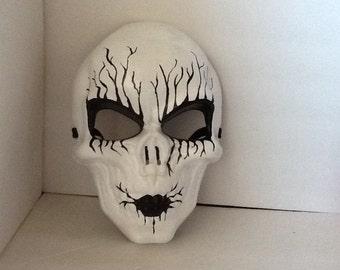 Mask, Skull Mask, White Skull Mask, Day of The Dead,Handpainted, Wall Art