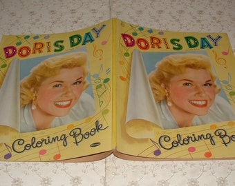 Vintage 1955 Doris Day Coloring Book - 80 Pages