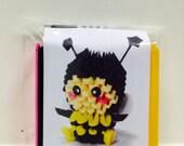 3D origami bumble bee kit