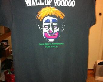 Wall of Voodoo T Tee Shirt 1985 Clown Head Seven Days in Sammystown World Tour Black Shirt Mexican Radio Vintage Tee