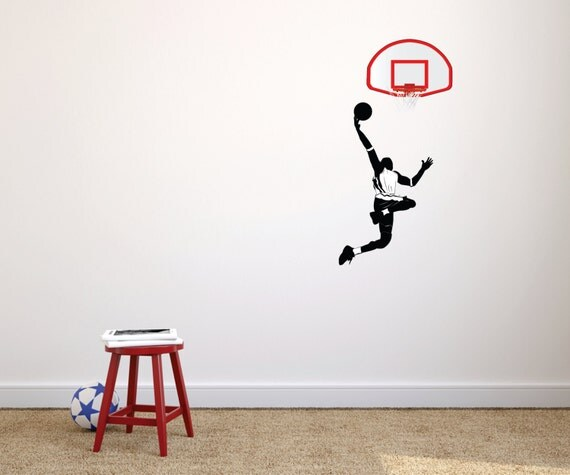 NBA Player Basketball Wall Decal by designwithvinyl on Etsy
