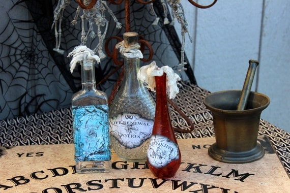 Witch Poison Bottles Halloween Party Decorations