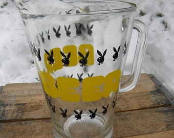 great shape clean vintage mid century PLAYBOY BUNNY CLUB beer pitcher