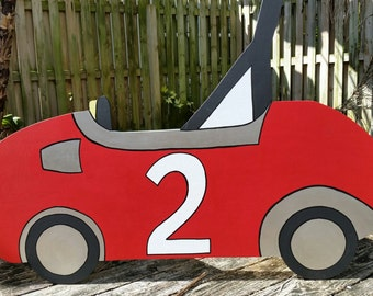 Vintage Race Car Photo Prop - Racing Birthday -  Event and Party Decoration