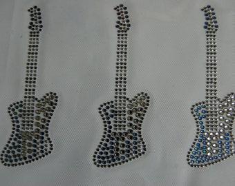 Small Blue Guitar Heart Transfer
