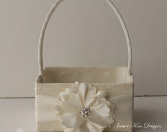 Flower Girl Basket only - (Custom Made)