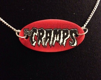 SALE The Cramps Necklace Band Logo