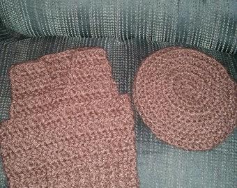 crochet vest and hat