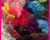 Grab Bag Shabby Flowers/ Shabby Chic- 100 flower tops- mixed lot