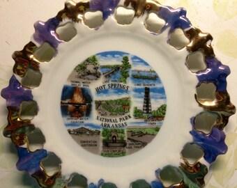 Vintage 1960's Hot Springs Souvenir Plate