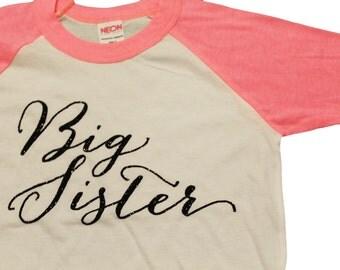 BIG sister shirt - real GLITTER