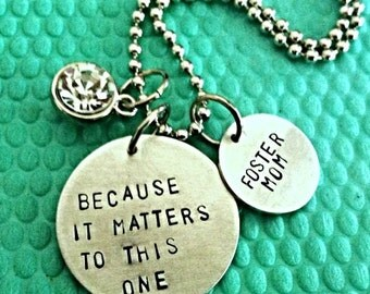 Foster mom necklace