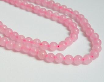Beautiful Rose Quartz gemstone round beads 6mm full strand 1040PS